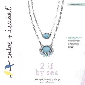 Chloe + Isabel Accessories - 🆕 Shoreside Double Layer Pendant Neck c+i N242